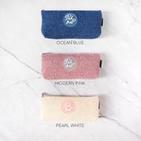 Pink Girl Knit Style Pencil Case / Tempat Alat Tulis / Tempat Pensil