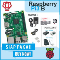 Raspberry Pi3 made in UK Pi 3 Model b 3b Pi3b Paket Lengkap Siap Pakai - 16 GB