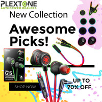 PLEXTONE G15 Stereo Earphone Headset Microphone Wired Magnetic Gaming - Merah