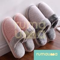 RUMAUMA Slippers Sendal Bulu Rumah Pria Wanita Indoor Anti Licin Murah