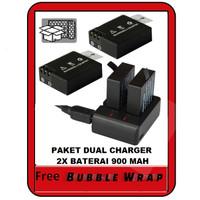 Paket Charger 2 Baterai Action Camera SjCam Bpro 5AE AE2 AE2S Kogan