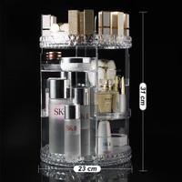 Rak Kosmetik Plastik Putar 360 derajat Diamond Rak Make Up RKP003