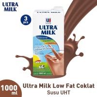Ultra Milk Low Fat Coklat 1000 ml (3pcs)