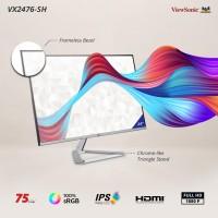 "Monitor LED 24"" ViewSonic VX2476-SH|75Hz|IPS|100% sRGB|Full HD"