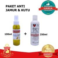PROMO! PAKET ANTI KUTU & JAMUR Anjing Kucing Obat Sakit Kulit + Shampo