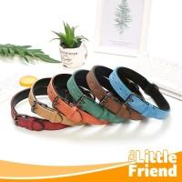 Collar Kalung Anjing Double Layer Model Sabuk Bahan PU Leather Tebal