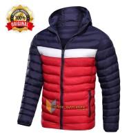 TERBARU jaket pria musim dingin / jaket winter pria tiga warna - Biru Navy, S