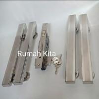 Handle Kunci Pintu Double Set Body Kunci Pelor Kunci pintu minimalis