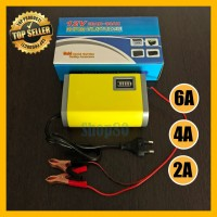 Charger Accu 2A / 6A Alat Cas Aki 12V Otomatis Portable Motor Mobil
