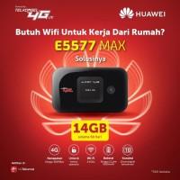 Mifi Huawei 4G LTE E5577 Max 3000mah Free TSEL 14Gb 2Bln
