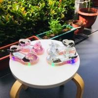 Sepatu Sandal Anak Import / Accecories Pita / Lampu LED - Merah Muda, 21
