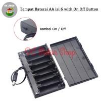 Kotak Baterai Tutup 8*AA Tempat Baterai 8*AA Battery Holder/Box/Case