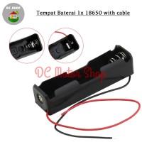 Battery 1*18650 Holder Seri 1 Slot Batere Baterai Case/Box/Kotak Duduk