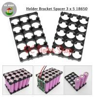 Dudukan Battery Baterai 3*5 3x5 18650 Holder Spacer Bracket Case DIY