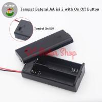 Kotak Baterai Tutup 2*AA Tempat Baterai 2*AA Battery Holder/Box/Case