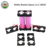 Dudukan Battery Baterai 2*18650 2 slot Holder Spacer Bracket Case DIY