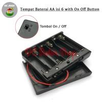 Kotak Baterai Tutup 6*AA Tempat Baterai 6*AA Battery Holder/Box/Case