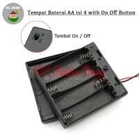 Kotak Baterai Tutup 4*AA Tempat Baterai 4*AA Battery Holder/Box/Case