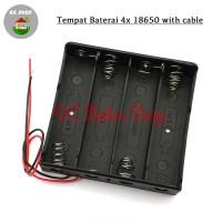 Battery 4*18650 Holder Seri 4 Slot Batere Baterai Case/Box/Kotak Duduk