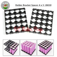 Dudukan Battery Baterai 4*5 4x5 18650 Holder Spacer Bracket Case DIY