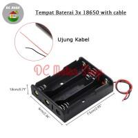 Battery 3*18650 Holder Seri 3 Slot Batere Baterai Case/Box/Kotak Duduk