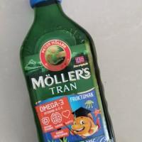 mollers tran vitamin bayi dan anakrasa tutti frutti,neutral,lemon,apel