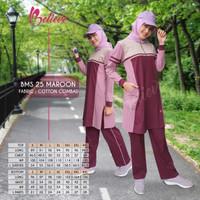 Set Baju Kaos Olahraga Wanita Muslimah BMS 25 Premium Branded Ori