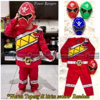 Baju Setelan Anak Laki Laki Kostum + Topeng Super Hero Power Rangers