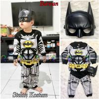 Baju Setelan Anak Laki Laki Kostum + Topeng Super Hero Batman