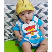 Baju Kodok Bayi Pakaian Bayi Jumper Bayi Kostum Setelan Bayi Doraemon