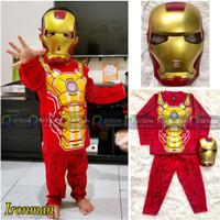 Baju Setelan Anak Laki Laki Kostum + Topeng Super Hero IronMan