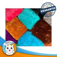 SMALL Soft Fur Pet Bed / Bantal Alas Tempat Tidur Hewan Anjing Kucing - Orange