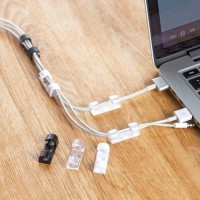 Klip Kabel Organizer Cable Clip 20 PCS tempel di dinding meja rapi