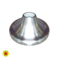Fitting Lampu Plafon Besi E27 Silver Ceiling Lamp Bulat Keramik E27