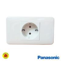 Panasonic Stop Kontak Non CP 1 Gang WZJ1122 Socket Inbow Frame WZJ1781