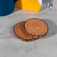 Wooden Slice 10-14 cm / Wood Slice/ Potongan Kayu Decor/Alas Cangkir