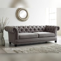 Sofa Bed Teras Ruang Tamu 2 Seater + Cermin Dinding - Dimensi 60cm