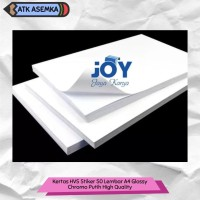 Kertas Stiker Glossy 50 Lembar A4 Glossy Chromo Putih High Quality