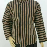 Baju Surjan Lurik Dewasa Pakaian Adat Jawa Ukuran M L Xl XXL