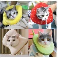 Corong Penutup Kucing Cone Protection Pelindung Leher Kucing Collar - roti, S