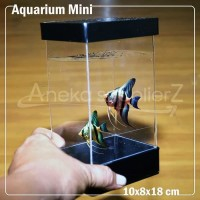 aquarium akrilik mini degan variasi hitam