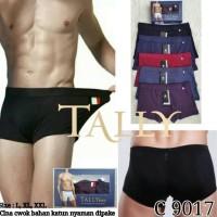 CD 9017 Celana Dalam Boxer Pria Cowok Bahan Katun Polos TALLY