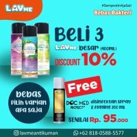 Lavme Anti Bacterial Spray 400ml - 3pcs Free Docmed 200ml