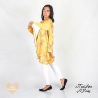 CUIT Dress Hamil Menyusui / Tunik - Minori Mustard