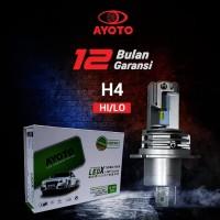 Lampu Mobil LED AYOTO H4 Hi/Lo 6000k, 35W+35W, 10.000 lumens, PNP