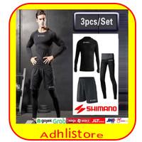 BAJU SEPEDA FULLSET /Shimano/Celana/Baselayer Sepeda/Legging Sepeda