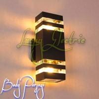 Lampu Dinding Taman Outdoor E27 x 2 / Kap Wall Light Teras Waterproof