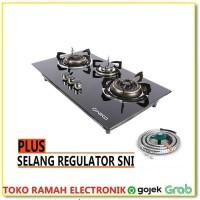 Niko Mirror Kompor Gas Tanam 3 Tungku Plus Selang Regulator ber SNI