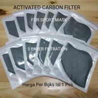 Filter Masker Sport Activated Carbon Filter 5 Layer Filtration