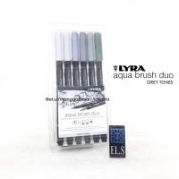 Lyra Aqua Brush Duo Gray Tone Set 6 ( Brush Pen )